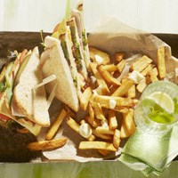 Club Sandwich to share with Pure & Rustic Fries